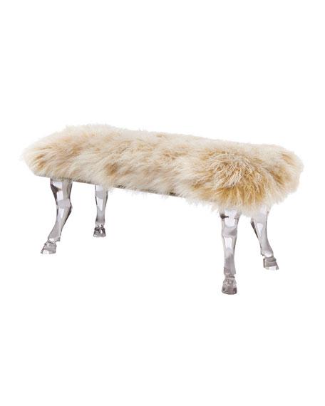One-of-a-Kind Sheepskin Bench