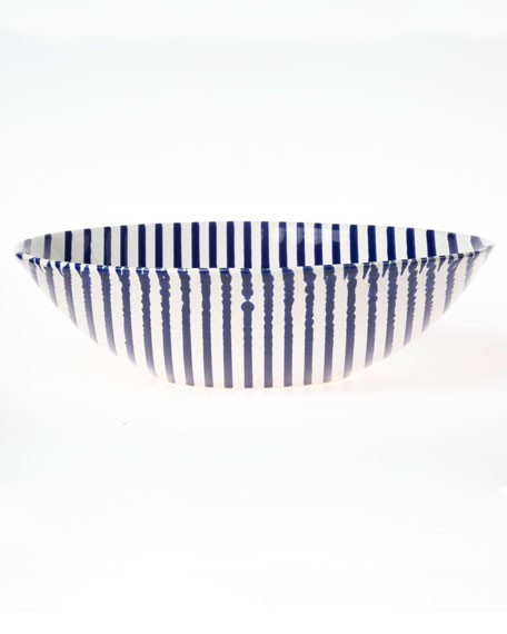 Stripe Medium Serving Bowl