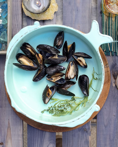 Melamine Lastra Fish Medium Serving Bowl