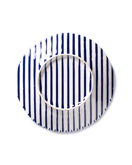Stripe Salad Plate