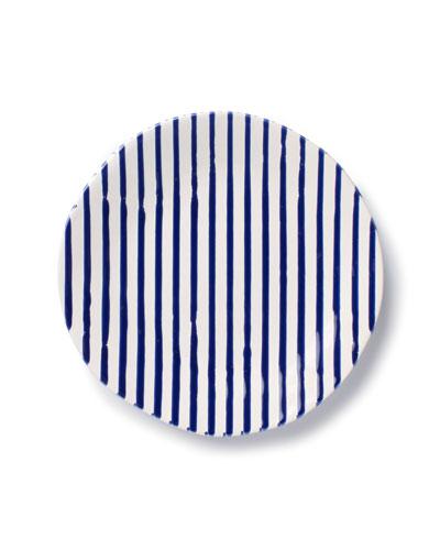 Stripe Salad Plate
