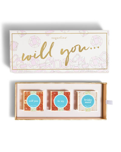 Will You Be My Bridesmaid 3-Piece Bento Box