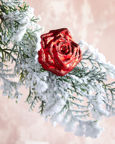 Small Red Rose on Clip