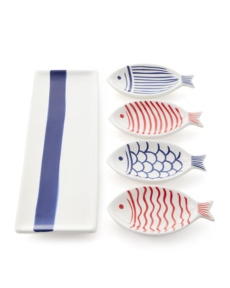 Anchors Away Fish Platter Set