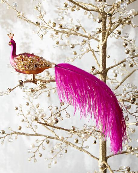 Ombre Peacock Ornament Clip