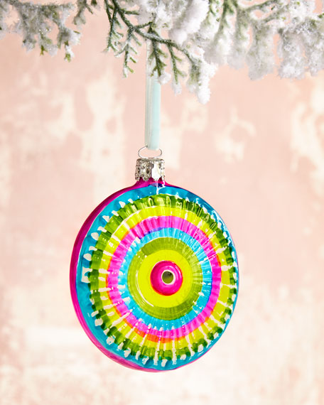 Christborn Wegner Bright Disc Glass Christmas Ornament