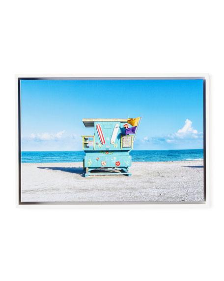 """Lifeguard Chair Beach Giclee, 24"""" x 16"""""""