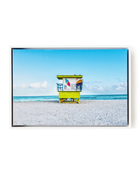 Lifeguard Chair Keep Beach Clean Giclee, 24