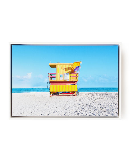 Lifeguard Chair 8th Street Beach Photography Giclee, 24
