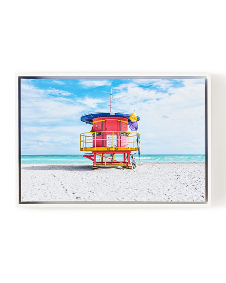 Lifeguard Chair 10th Street Beach Giclee, 24