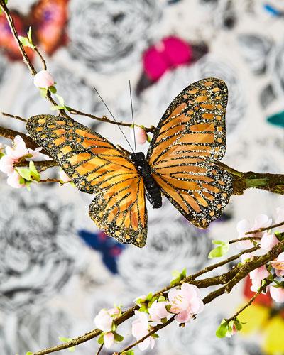 Metallic Butterfly Clip