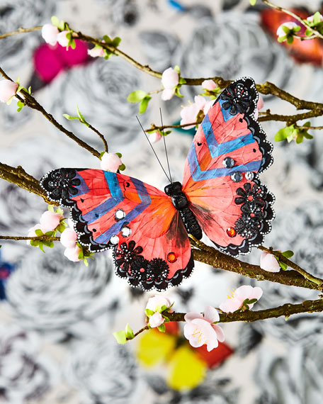 Christian LaCroix Multicolored Butterfly Clip