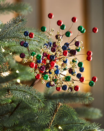 multicolored ball pick - Neiman Marcus Christmas Decor