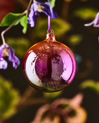 Ombre Glass Shiny Ball Ornament