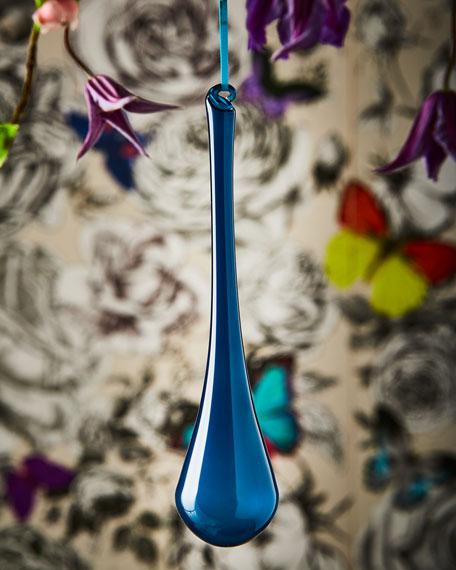 Bubblegum Glass Teardrop Ornament