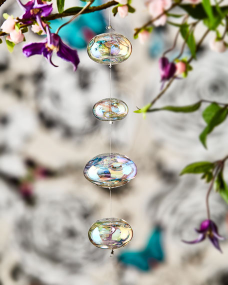 Christian LaCroix Dangling Iridescent Glass Ornaments