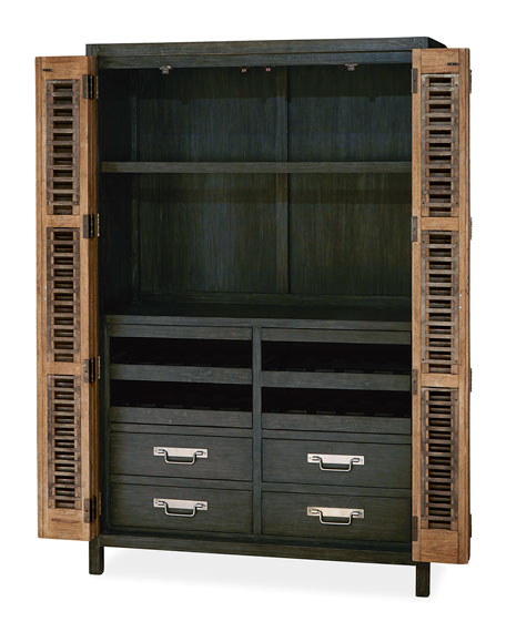 Dylan Bar Cabinet with LED Light