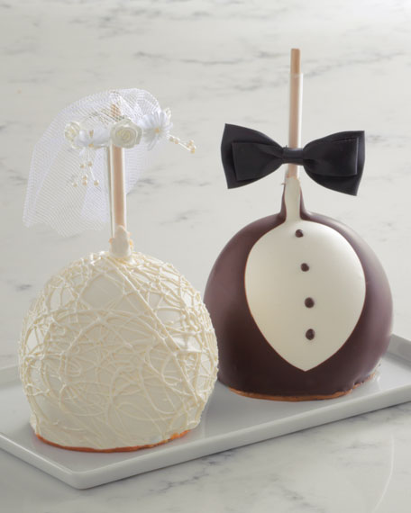 Mrs Prindable's Bride and Groom Jumbo Caramel Apple