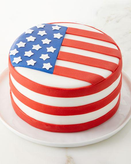 """Flag Cake, 6"""""""