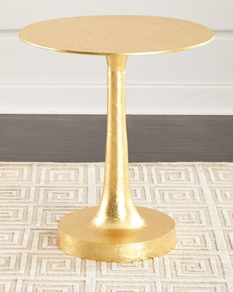 Sasha Gold Leaf Side Table