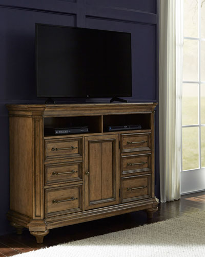 Claudia 4-Door Media Chest TV Stand