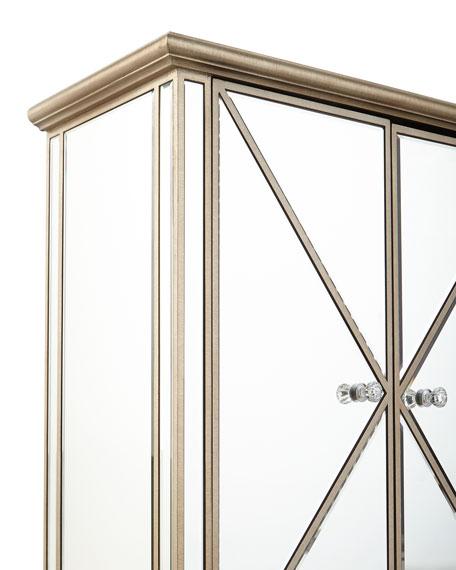 Verena Two-Door Mirrored Accent Chest