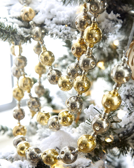 Glass Ornaments Garland, 6'