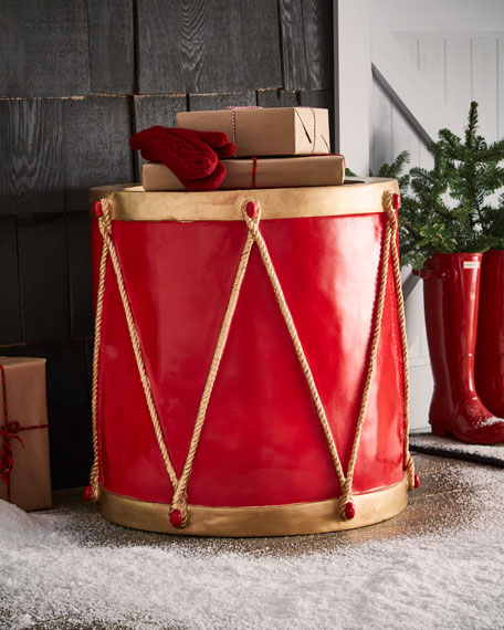 Live Form Red and Metallic Gold Drum Outdoor