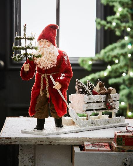 Bethany Lowe German Santa Pulling Sled
