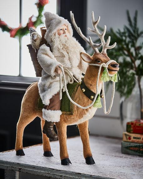 Bethany Lowe Woodland Santa on Reindeer