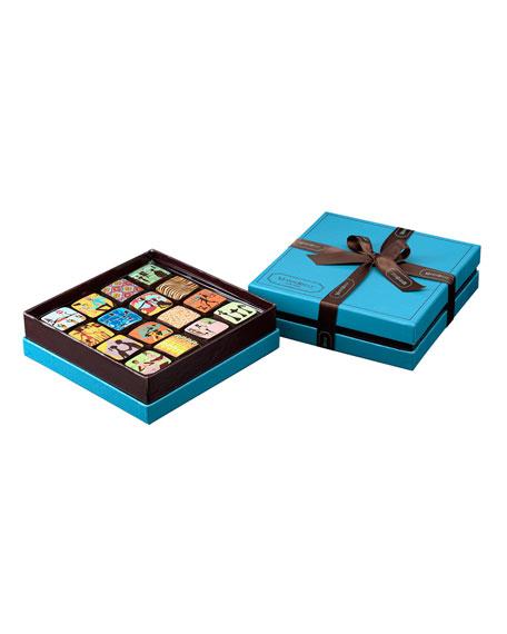16-piece Chocolate Ganache Box, Blue