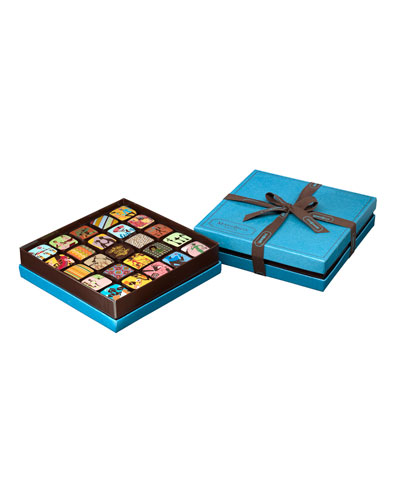 25-piece Chocolate Ganache Box, Blue