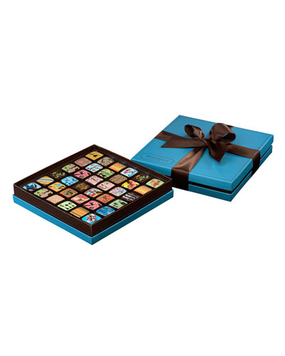 36-piece Chocolate Ganache Box, Blue