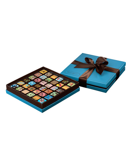 Mariebelle 36-piece Chocolate Ganache Box, Blue