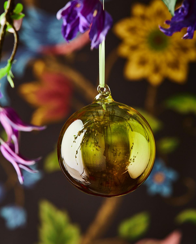 Christian Lacroix Ombre Glass Shiny Ball Ornament Neiman