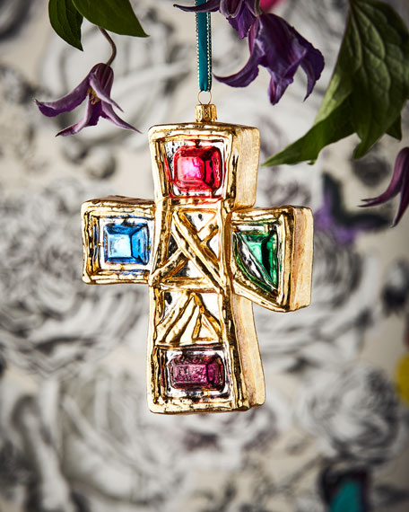 Christian LaCroix Cross Christmas Ornament