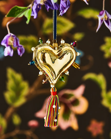 Christian LaCroix Heart Ornament with Tassel