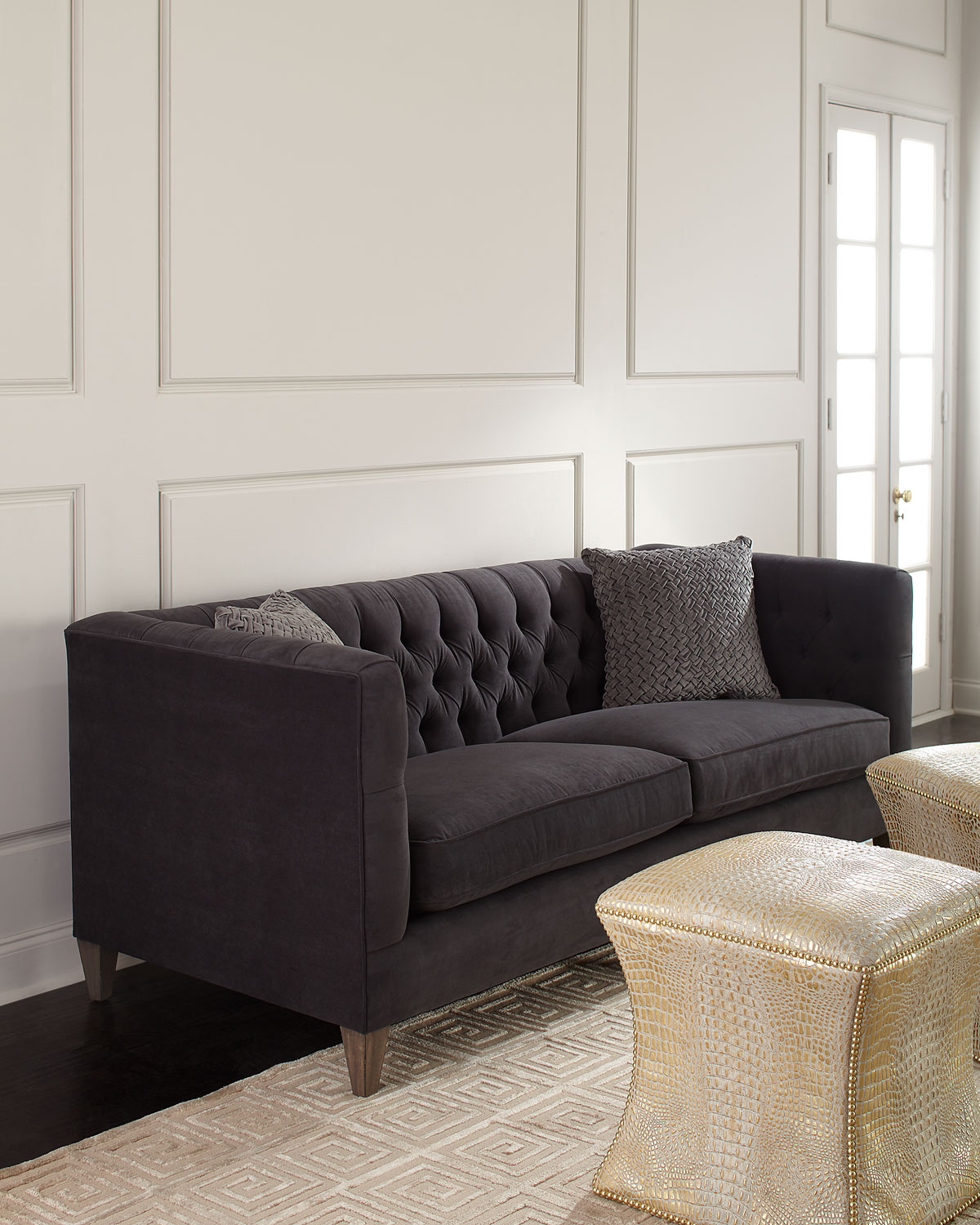 Beckett tufted back sofa 83
