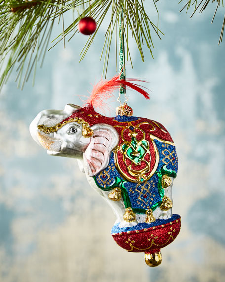 Christopher Radko Christmas Ornamental Mammoth Christmas Ornament