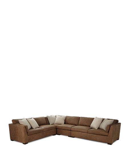 Ellington Leather 4-Piece Sectional