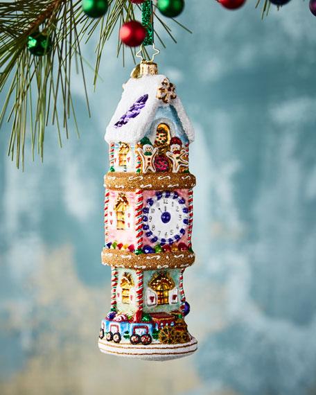 Christopher Radko Sugary Time Piece Christmas Ornament
