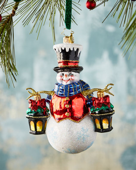 Christopher Radko Winter Watchman Christmas Ornament
