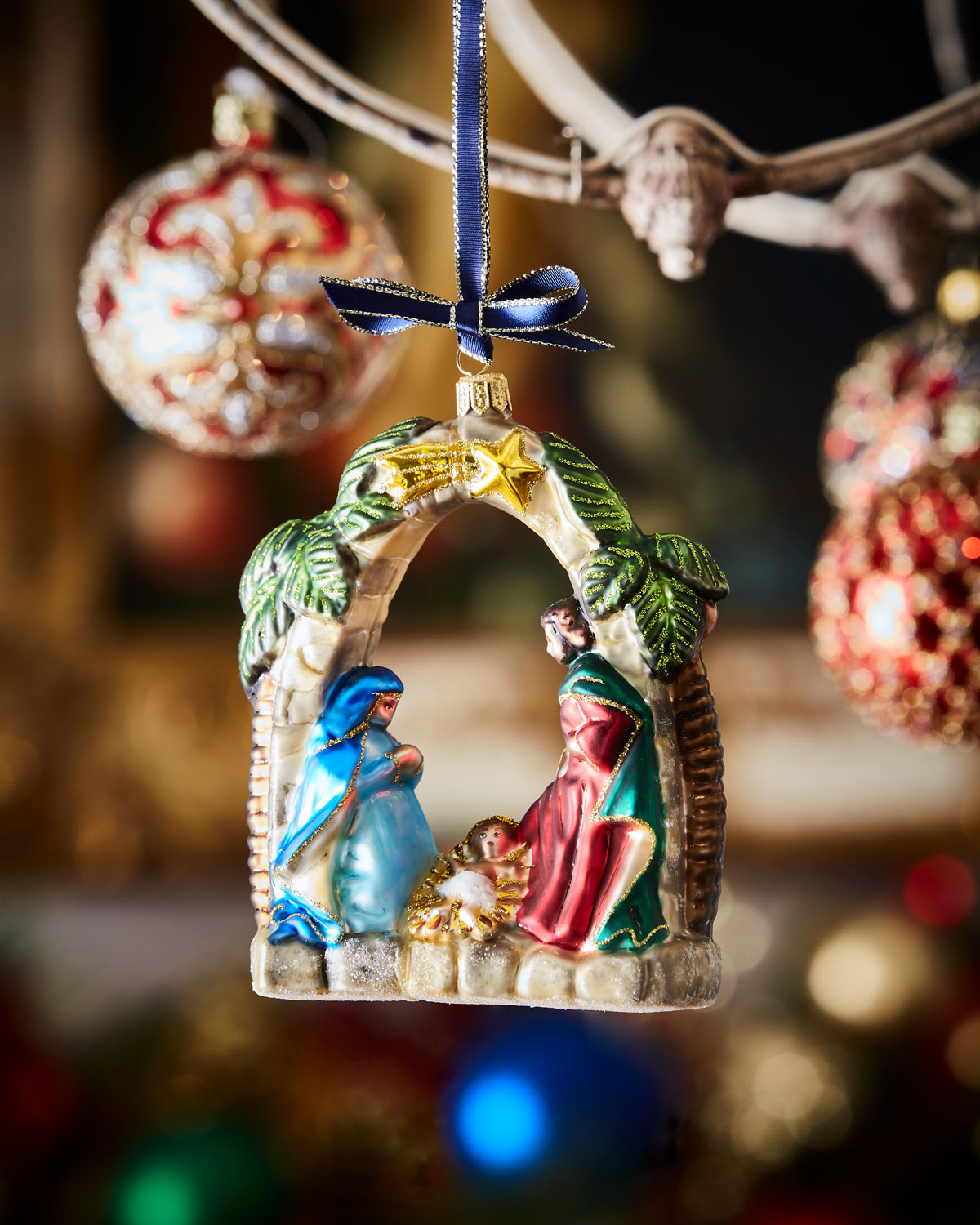 nativity scene christmas ornament