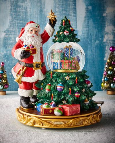 Treasured Trimming Christmas Tree Snow Globe