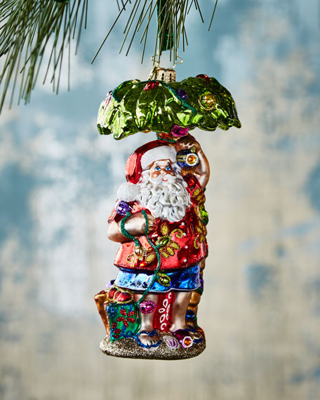 Christopher Radko Claus in Paradise Christmas Ornament