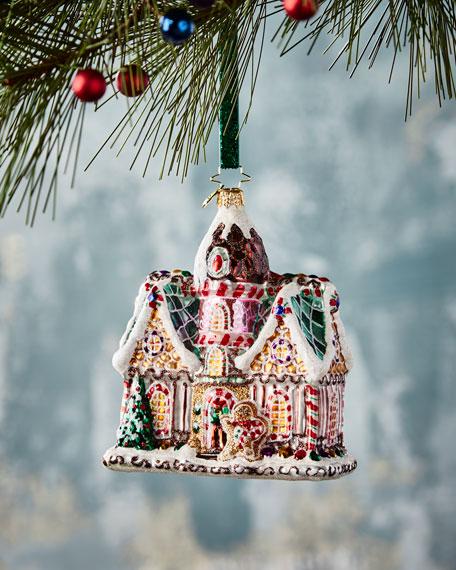 Christopher Radko Sweet Invitation Gingerbread House Christmas