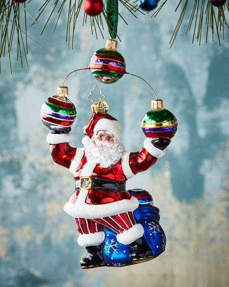 Christopher Radko Jolly Juggler Christmas Ornament