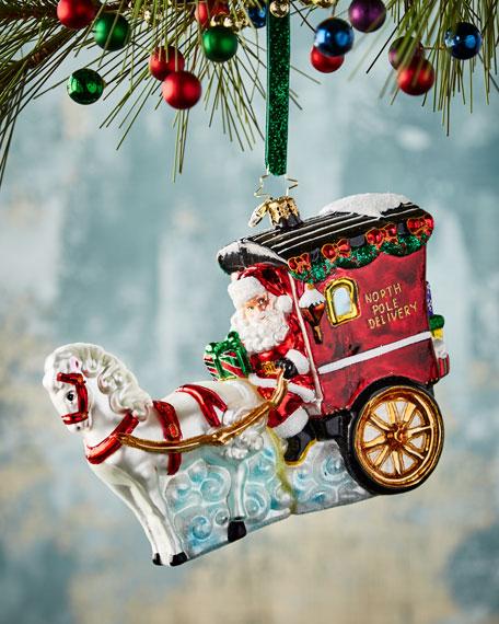 Christopher Radko Hold Your Horses Santa Ornament