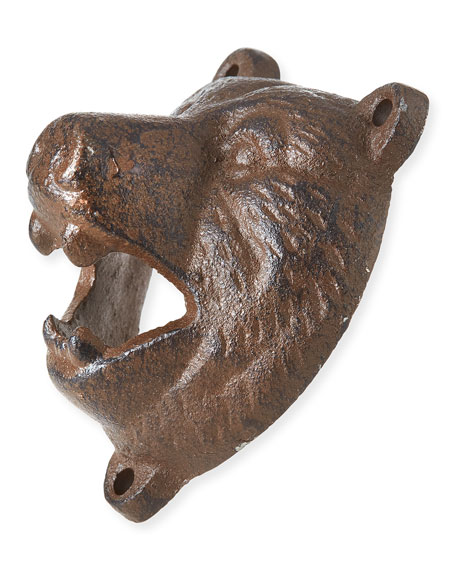 Bear Head Wall-Mount Bottle Opener