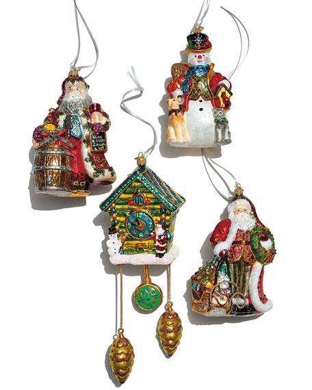 John Huras Vintner Santa with Wine Barrel Christmas Ornament